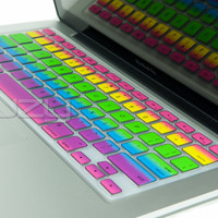Rainbow Keyboard Cover Silicone Skin MacBook Pro 13, 15, 17 fit Retina iMac Air