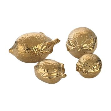 Gold Ceramic Lemons Gold Plate