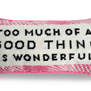 Wonderful Needlepoint Pillow