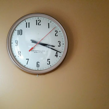 Vintage Westclox Electric Wall Clock Industrial Schoolhouse Decor