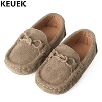 New Fashion Wild Children's Peas Shoes Boys Leather Shoes Girls Baby Genuine Leather First Walkers Casual Loafers Kids Flats 04