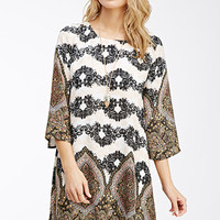 Floral Paisley Shift Dress
