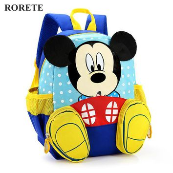 2017 Mickey School Bag Minnie Kids Bag Children Backpack Kindergarten Backpack/kid School Bags/Satchel for Boys Girls
