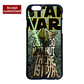 Yoda Star Wars Pattern Cover Case for iPhone 4 4S 5 5S 5C 6 6S 7 Plus iPod Touch 4 5 6 LG G2 G3 G4