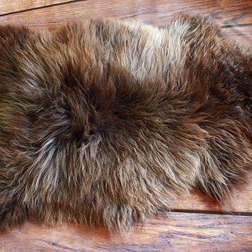 Beautiful, Natural, Unique Sheepskin Rug, Pelt, soft, thick fur xxl Extra Large