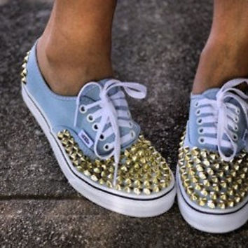 Studded Vans by StudLeeCreations on Etsy