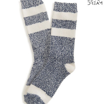 Marled Striped Crew Socks - Aeropostale