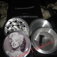 LA Tattoo Marilyn Monroe 4 Piece Grinder Herb Spice Aircraft Grade Aluminum C.N.C from Cognitive Fashioned