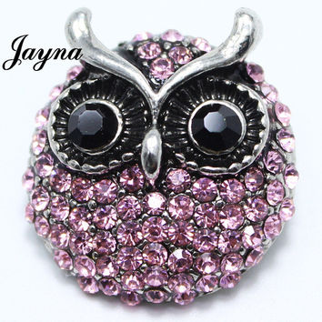 charms snaps18 mm Rhinestone Button Jewelry Alloy snaps buttons fit ginger snaps bracelets Jayna Jewelry GS1208094