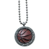 "Basketball Necklace ""I Can Do All Things Through Christ"