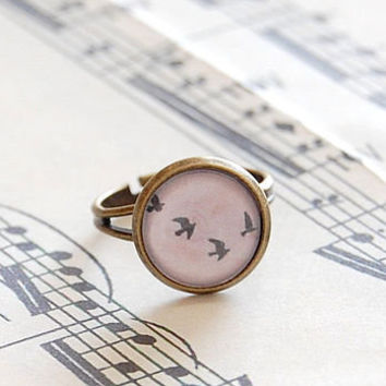 Flying Birds Ring