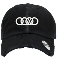 volkswagen dope Distressed Baseball