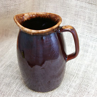 Brown Drip glazed pitcher