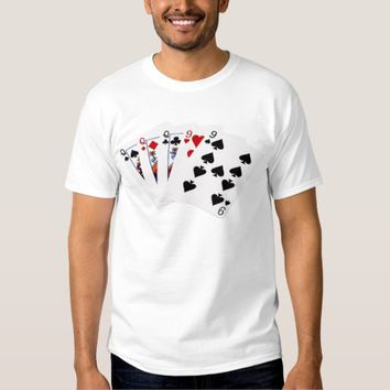 Poker Hands - Full House - Queen and Nine T Shirt