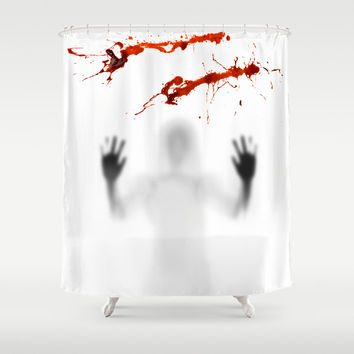 bloody Ghost Shadow Horror Halloween Shower Curtain