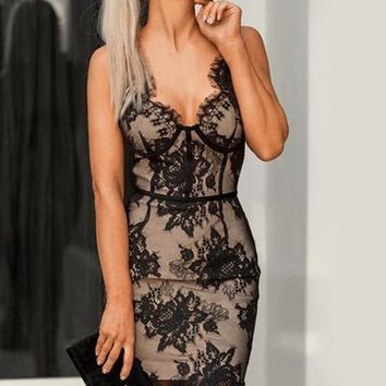 Bossy Lace Bandage Dress