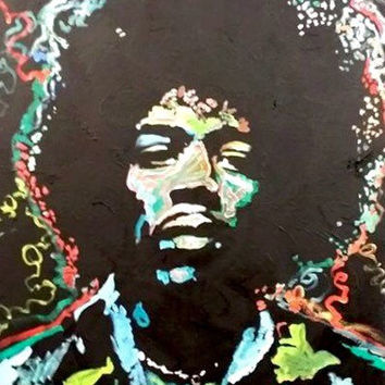 Jimi Hendrix Painting Original Oil Painting Pop Art Painting 20x24 Canvas Painting Canvas Wall Art Music Wall Art Music Decor by Matt Pecson