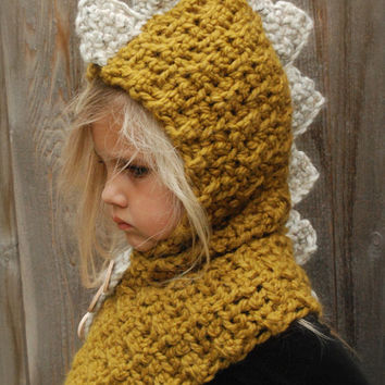 Crochet Pattern Drako Dino Cowl 1218 From Thevelvetacorn On