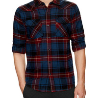 Threads 4 Thought Men's Plaid Elbow Patch Sportshirt - Blue -