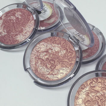 JUMBO Strawberry Swirl Pressed Highlighter Face & Eye Highlight Powder