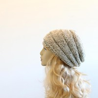 Wool Handmade Knitted Hat on Luulla