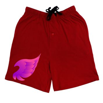 Cute Single Angel Wing Adult Lounge Shorts - Red or Black