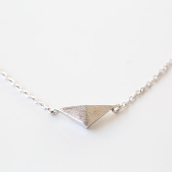 925 Sterling Solid Triangle Necklace