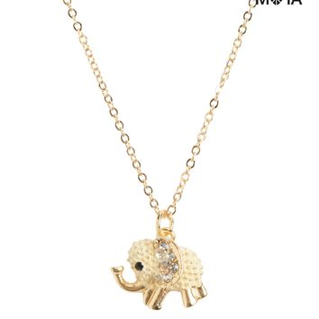 ELEPHANT SHORT-STRAND NECKLACE
