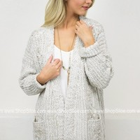 Chunky Knit Cardigan | Cream