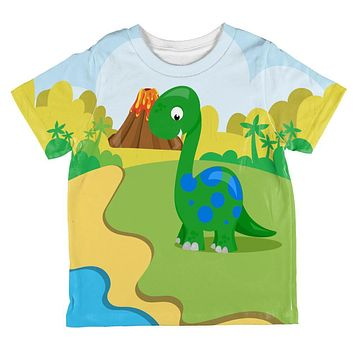 My Little Dinosaur All Over Toddler T Shirt