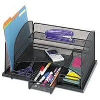 Safco Model Organizer with Three Drawers, Black Onyx (3252): Office Products