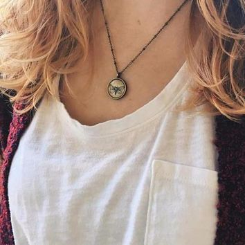 Dainty Moth Necklace