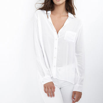 FAYE CHALLIS COLLARED BUTTON-UP