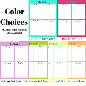 The Week | Two Page Planner| Printable Weekly Planner | Digital Weekly Planner | Weekly To Do List | Weekly Schedule | Two Page Planner