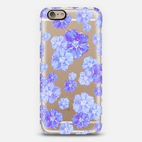 Blossoms Blue - Transparent/Clear Background iPhone 6 case by Lisa Argyropoulos | Casetify