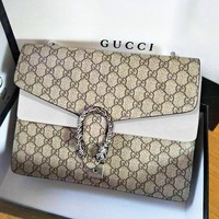 GUCCI Fashion Hot Selling Spicy Girls Alcoholics Shoulder Bag Shopping Bag White