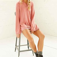 Chaser Bell-Sleeve Hooded Top- Pink