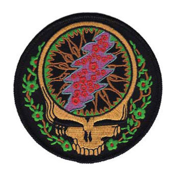 Grateful Dead Men's SYF With Vines Embroidered Patch Black