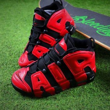 Nike Air More Uptempo Qs Black Red Baskerball Shoes 415082-005 Sneaker - Best Online Sale - Beauty Ticks