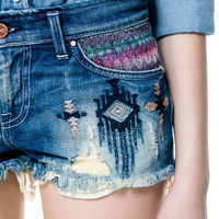 ETHNIC DENIM BERMUDAS - SHORTS - TRF - ZARA United States