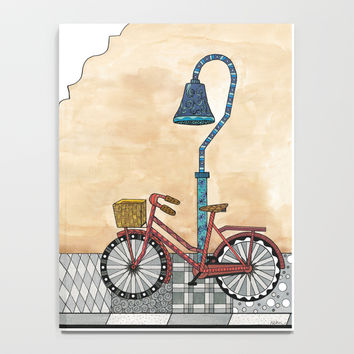 Bicycle on the El Camino Real Notebook by ninagibson
