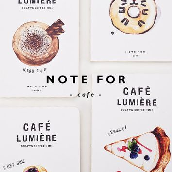 NOTE FOR Coffee Cafe Lumiere Cubita Miss You Cheese Cake Croissant Yummy Donuts Disert Notebook A5 100g Paper  Sketchbook