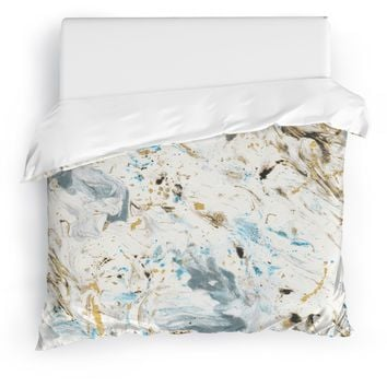 MARBLED Duvet Cover By Marina Gurtierrez