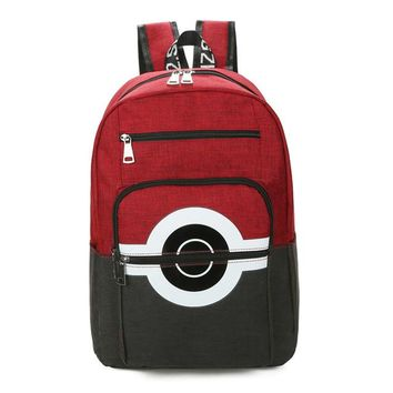 Anime Backpack School 2018 kawaii cute Pokemon Backpack Pocket Monsters Canvas Backpack For Women Men Pokemon Poke Ball Shoulder Schoolbags Mochila AT_60_4