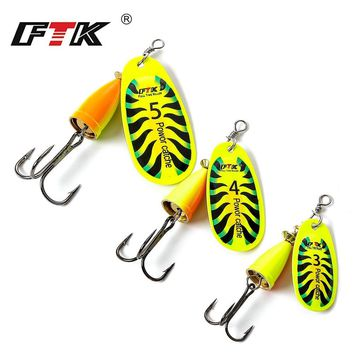 FTK Mepps Fishing Hook Ringed Spinner Bait Treble Hooks Spoon Sharp Wobbles Mixed Length/Weight/Size Ocean Lake River Tackle