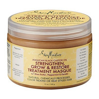 Shea Moisture Jamaican Black Castor Oil Strengthen Grow & Restore Treatment Masque 12oz