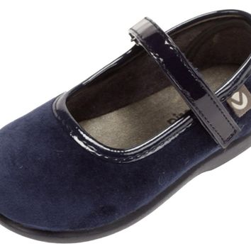 Victoria Alba Velvet Mary Jane Navy for Girl's