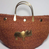 Handwoven, Sisal  Handbag From Kenya