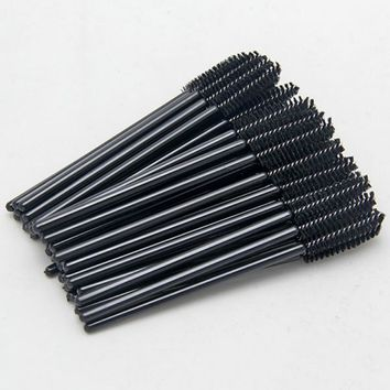 100pcs/pack Disposable Micro Eyelash Brushes Mascara Wands Applicator Wand Brushes Eyelash Comb Brushes Spoolers Makeup Tool Kit
