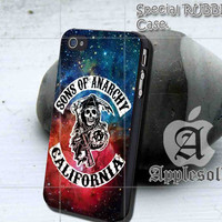Sons of Anarchy California iPhone case, iPhone 4/4S case, iPhone 5, 5S, 5c case, Samsung S3, S4 case, Hard Plastic, Rubber